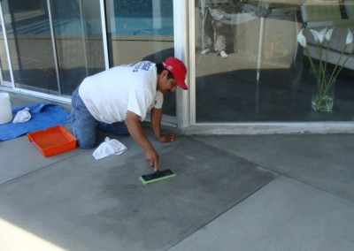Concrete Resurfacing by Alex Stone and Tile Services.