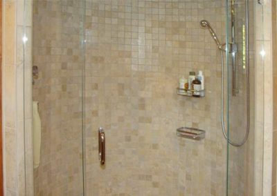 Mosaic Shower Tile and Grout Cleaning and Sealing by Alex Stone and Tile Services.