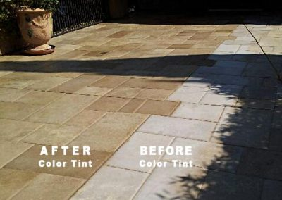 Stone Patio Pavers Tinting BEFORE AFTER-Alex Stone and Tile Services