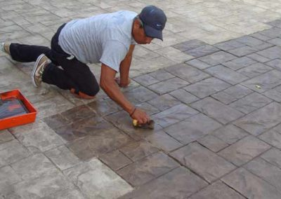 Stone Patio Cleaning by Alex Stone and Tile Services.