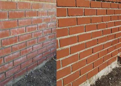 Brick Wall Cleaning BEFORE & AFTER - Alex Stone and Tile Services