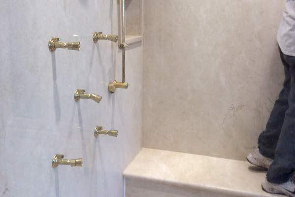 Photos stone cleaning companies alex stone and tile for Cleaning products for marble showers