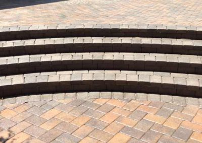 Stone Paver Patio Steps Cleaned and Sealed by Alex Stone and Tile Services.