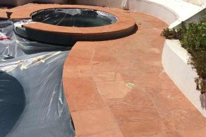 Pool and Spa Decking Cleaning and Sealing Service by Alex Stone and Tile Services, Los Angeles, Ca.