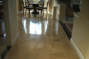 Stone Floor Polished by Alex Stone and Tile Services, Los Angeles.
