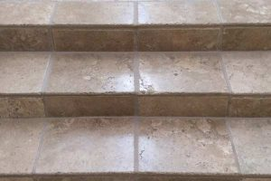 Stone stairs cleaned, sealed and polished by Alex Stone and Tile Services, Los Angeles, San Fernando Valley, Ca.