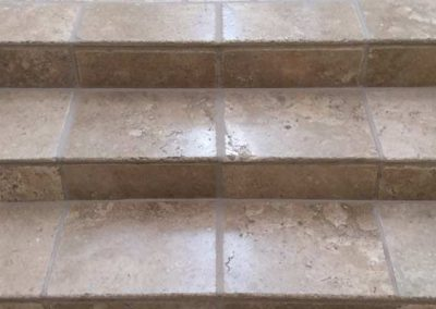 Stone Stairs Cleaned & Sealed by Alex Stone and Tile Services