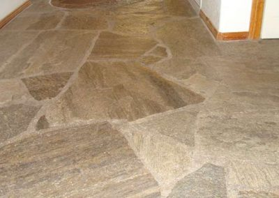 Natural Flagstone Floor Cleaned and Sealed by Alex Stone and Tile Services