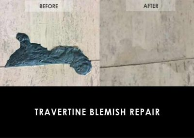 Travertine Etching Repair BEFORE & AFTER - Alex Stone and Tile Services